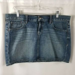 Old Navy Denim Jean Distressed Mini Skirt Size 12